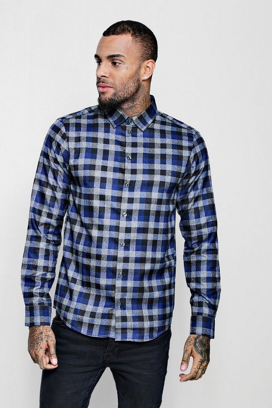 Blue Check Long Sleeve Shirt