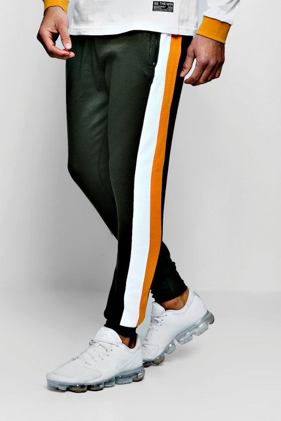 Side Tape Cuffed Joggers