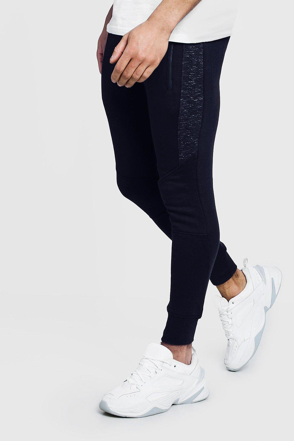Jogger Sew And Skinny Panelled navy Fit Cut HqnBg