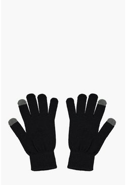 Herr Black Thermal Touch Screen Gloves