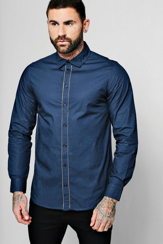 Long Sleeve Shirt With Zip Detail Placket