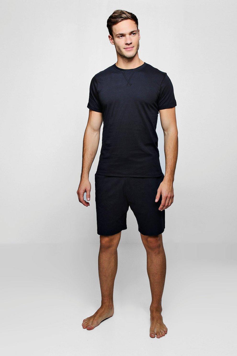 84bedbe2a3 Conjunto de pijama de camiseta y pantalones cortos de punto