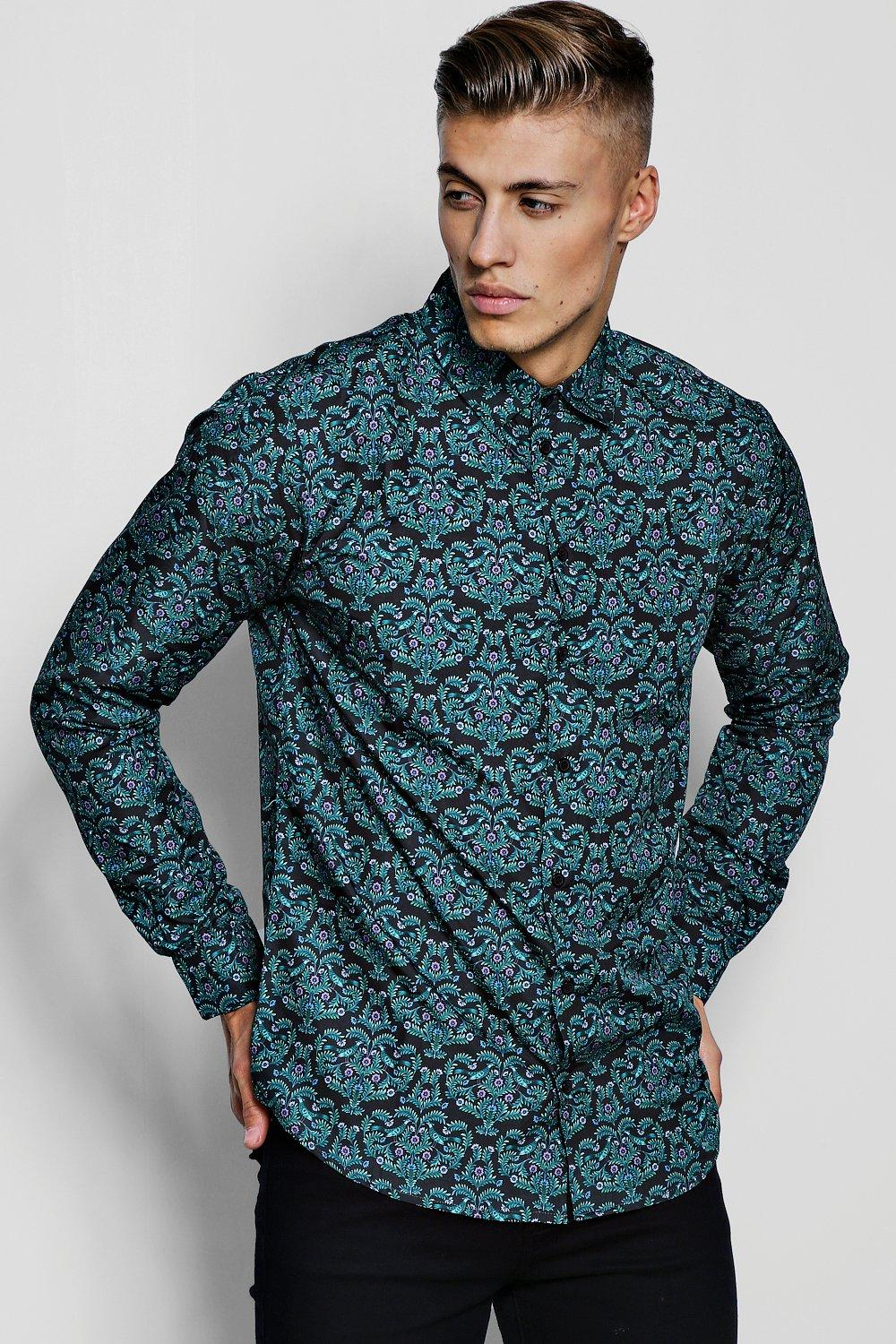 Ornate Print Long Sleeve Shirt