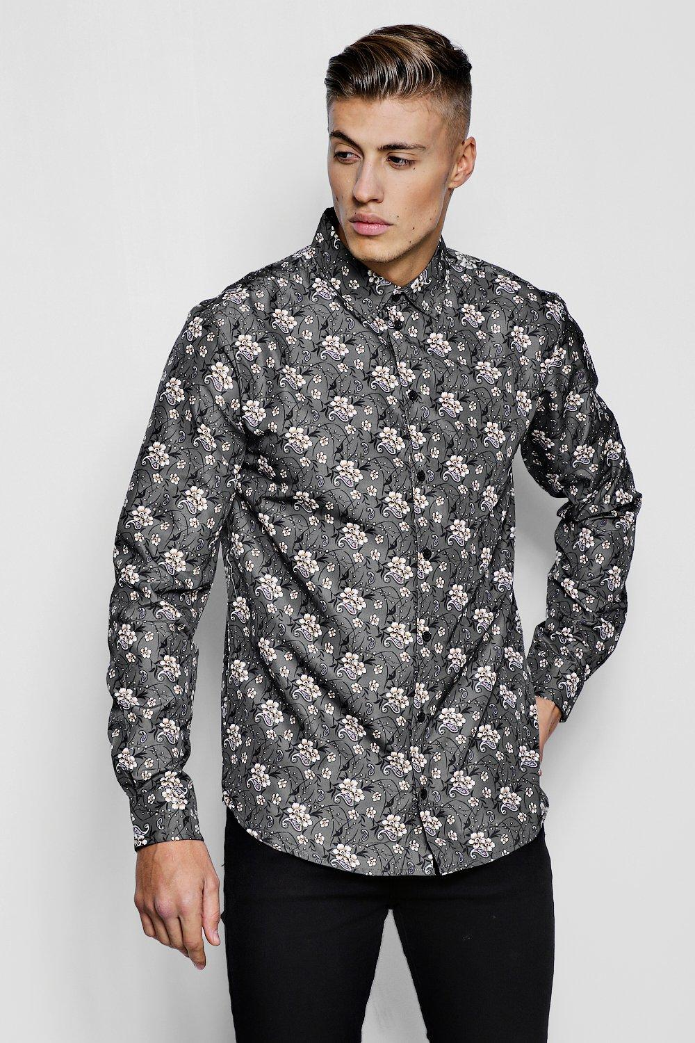 Floral Paisley Print Long Sleeve Shirt