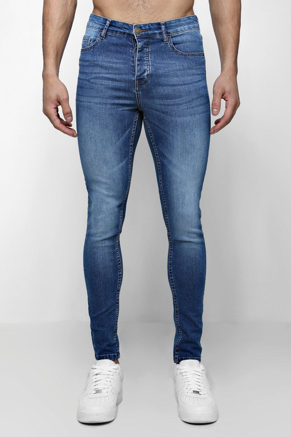 Spray On Skinny Jeans In Blue Wash
