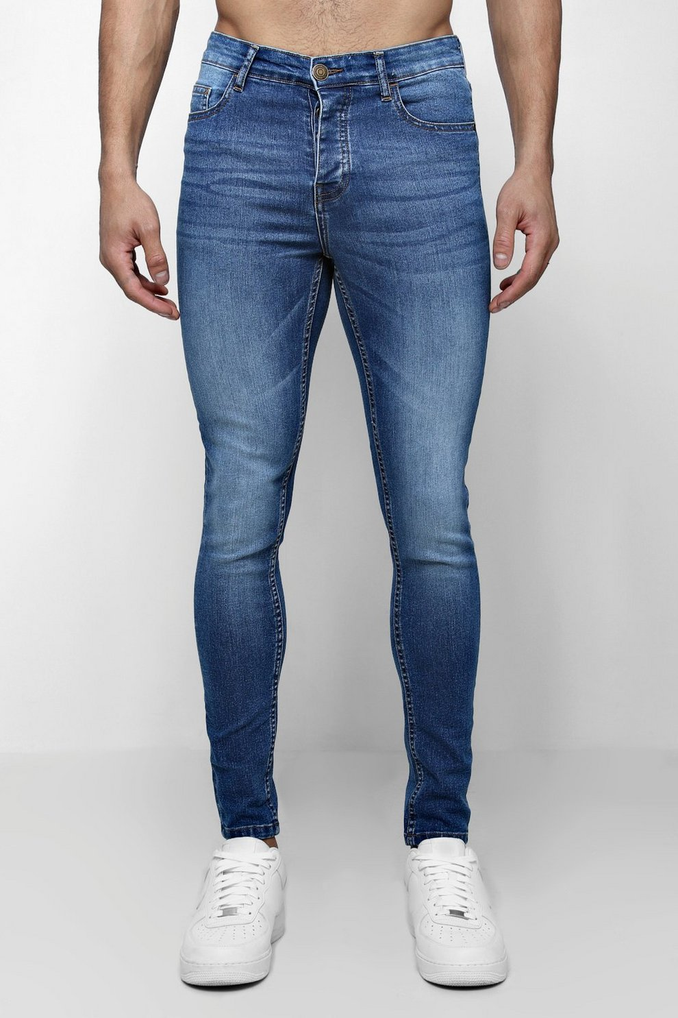 6e82e8d9c33a7 Spray On Skinny Jeans in blauer Waschung