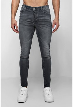 Herr Spray On Skinny Jeans in Grey