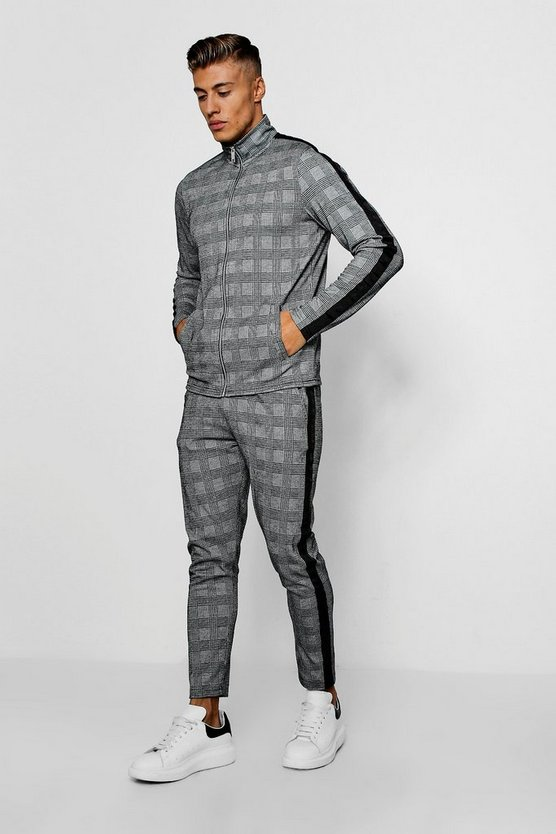 Smart Woven Check Panelled Twin Set