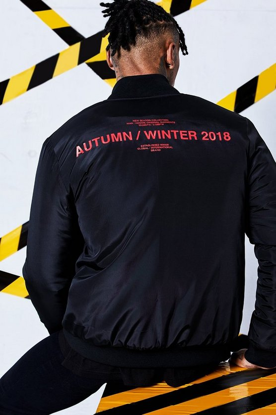 Man Certified Printed Bomber Jacket