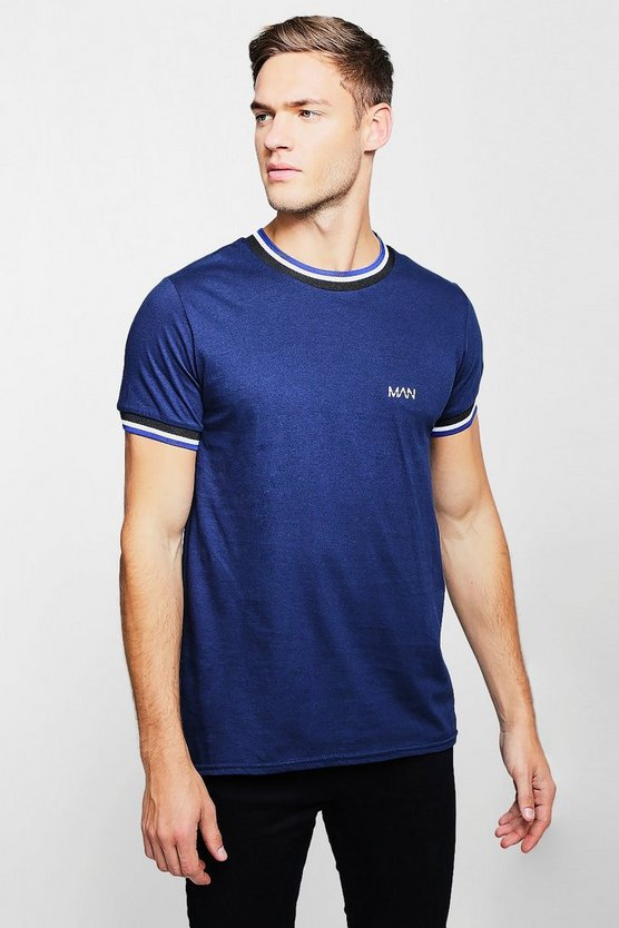 Original MAN T-Shirt With Sports Rib