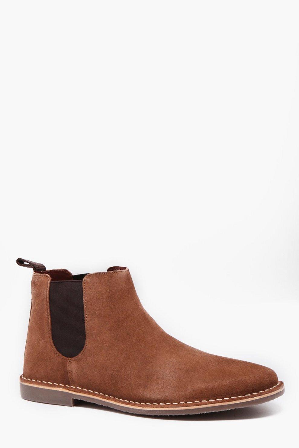 best sneakers 73f6d dfe2d Chelsea-Boots aus echtem Wildleder mit Gummisohle