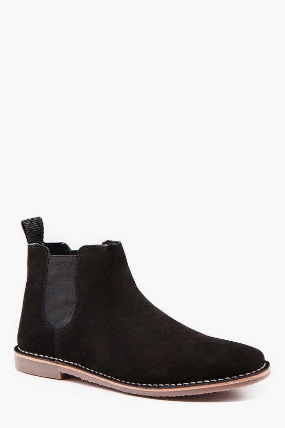 Suede Gum Sole Chelsea Boot