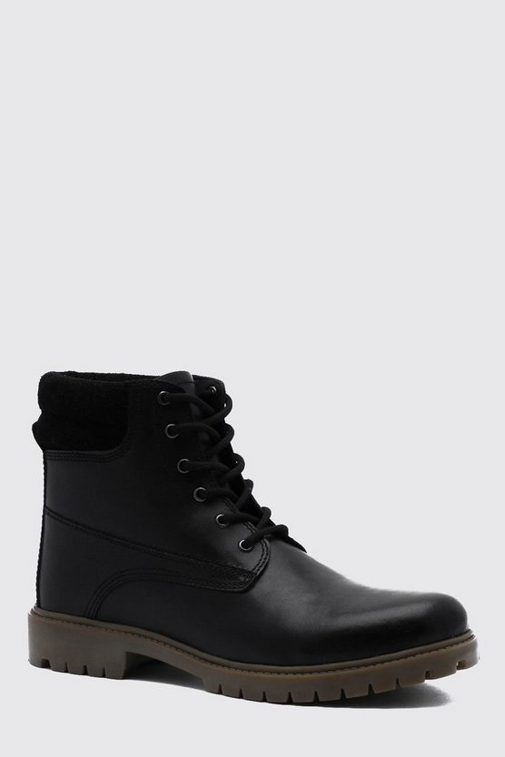 Real Leather Worker Boot