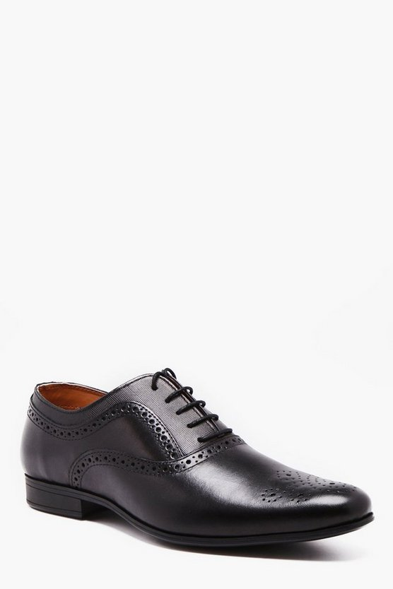 Real Leather Derby Brogue