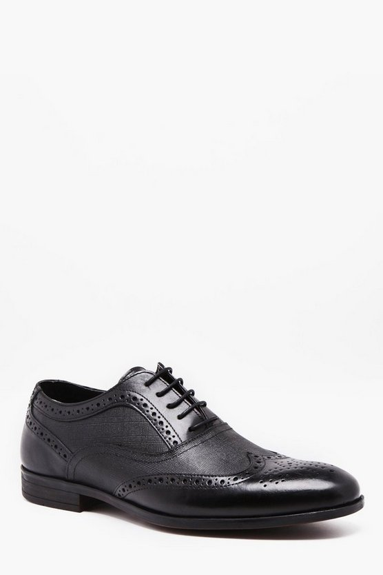 Real Leather Wing Cap Brogue