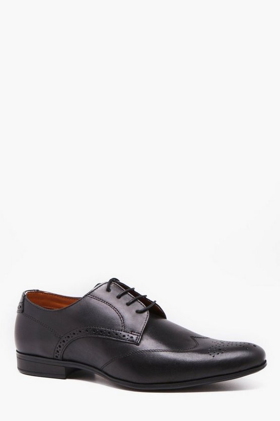 Real Leather Wing Cap Gibson Brogue
