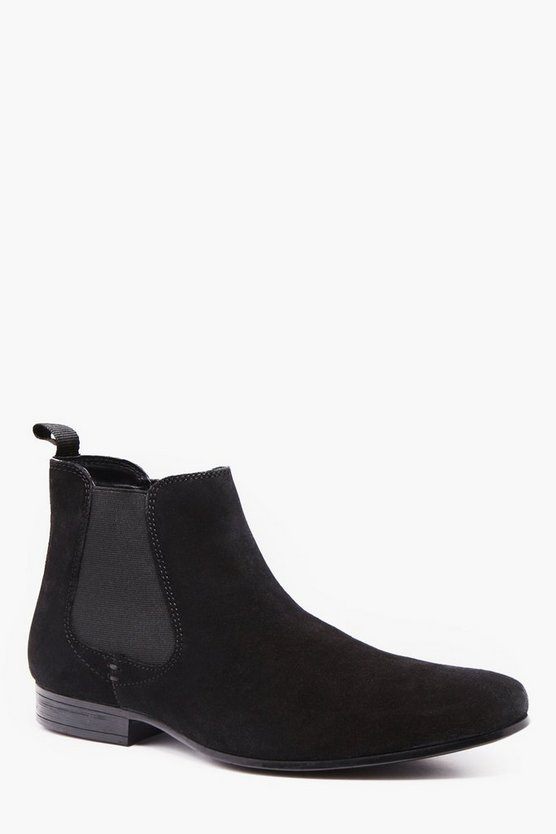 Real Suede Smart Chelsea Boot
