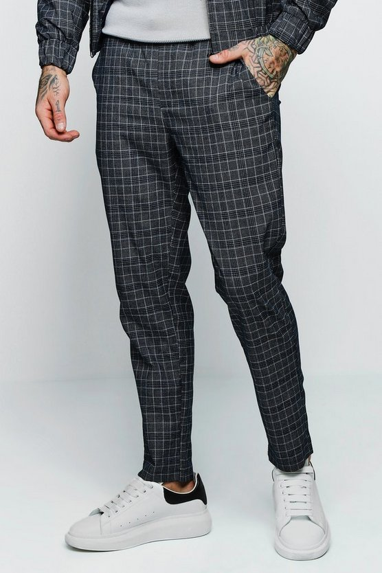 Jaspe Check Smart Taped Cuffed Jogger Co-ord