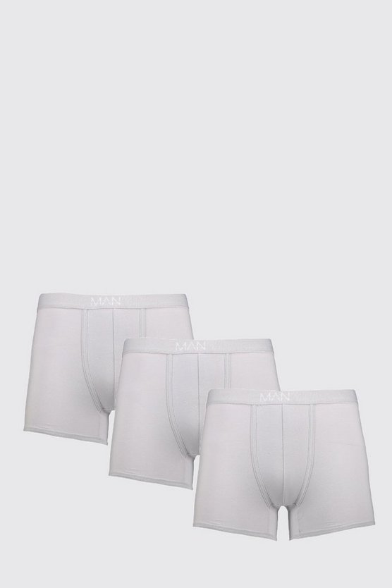 3 Pack MAN Dash Boxers In Grey
