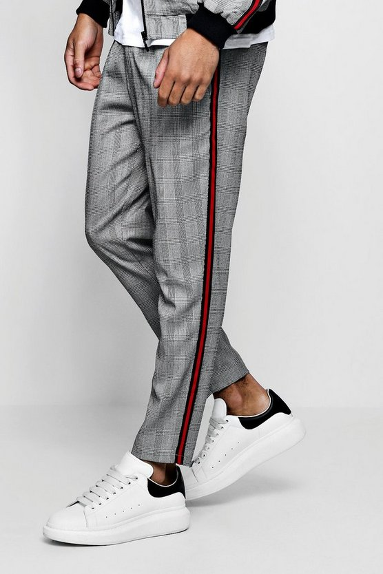 Mono Check Smart Jogger With Taping
