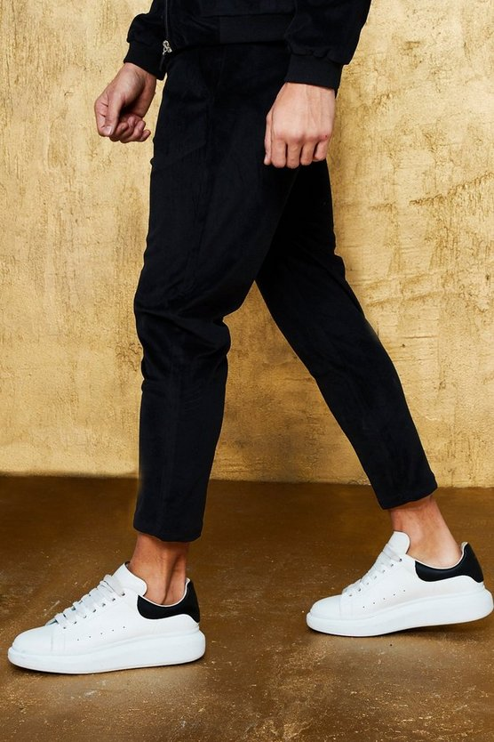 Velour Pin Tuck Smart Cropped Jogger