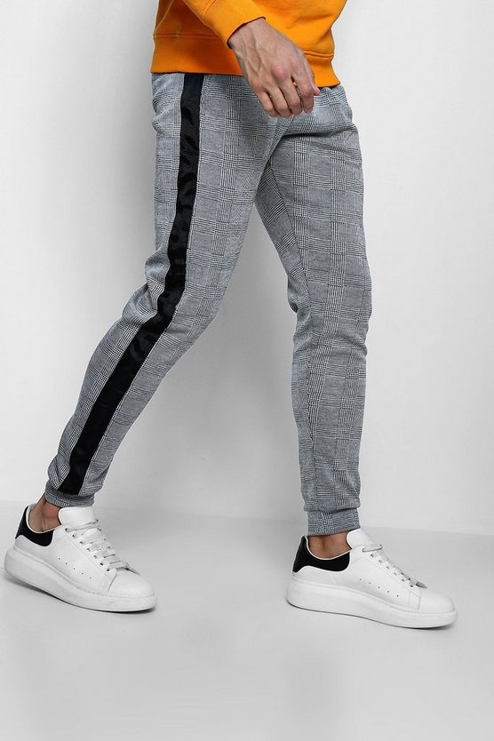 Check Jacquard Jogger With Side Tape