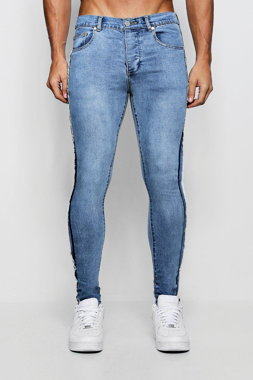 Super Skinny Jeans with Frayed Side Seam