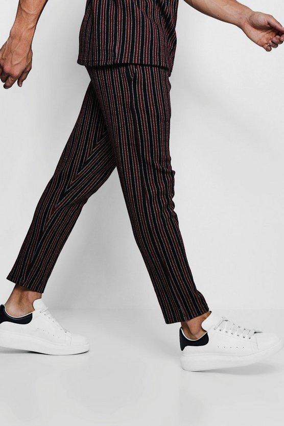 Wide Set Stripe Smart Jogger by Boohoo Man