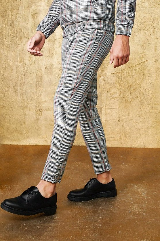 Mini Grid Check Smart Cropped Jogger