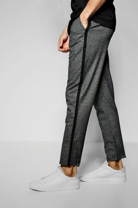 Houndstooth Tape Detail Jogger Trouser