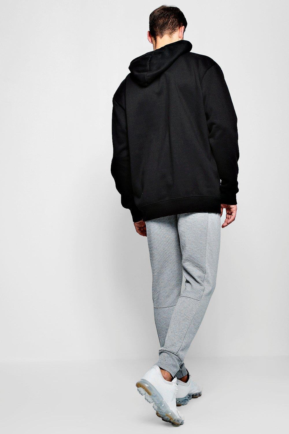 Joggers marl Jersey Side Panel Checked grey SnfqpRW