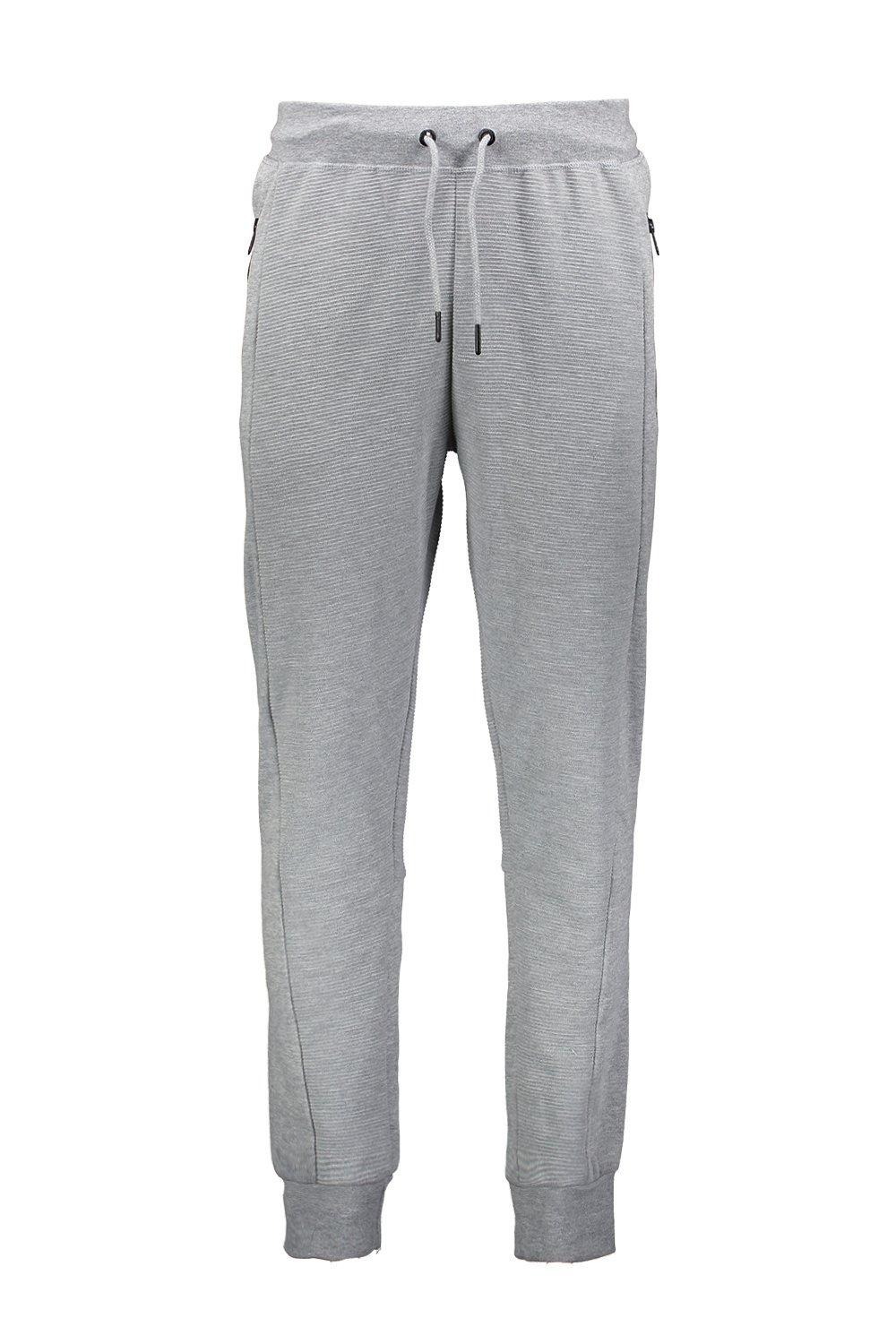 Side Checked grey Joggers Panel marl Jersey SWqwCPrnq