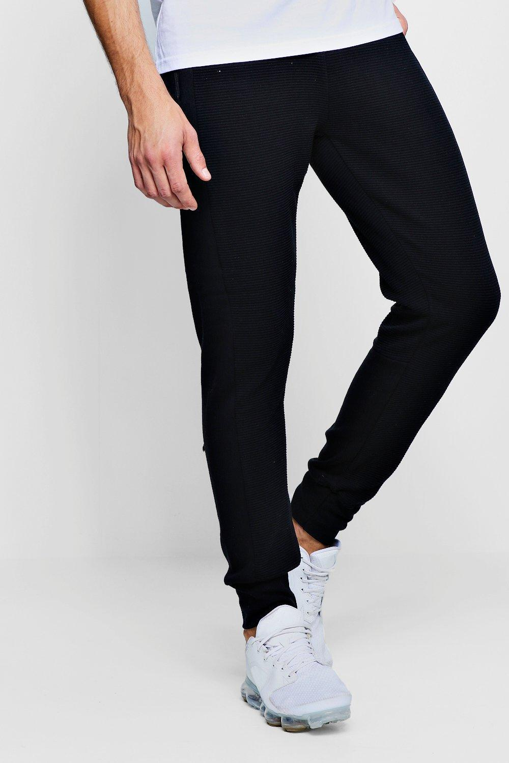 Jersey Side Checked black Joggers Panel O778qU