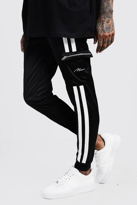 Tricot Cargo MAN Joggers With Contrast Tape