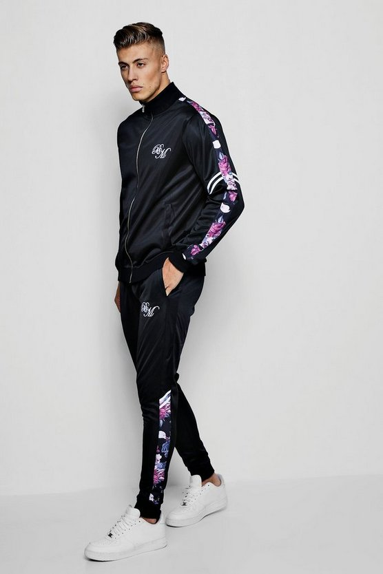 Tricot Funnel Neck BM Printed Panel Tracksuit