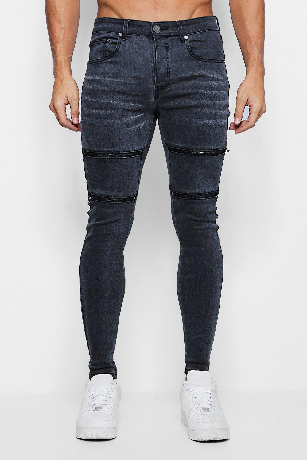 Spray On Skinny Jeans With Zip Details