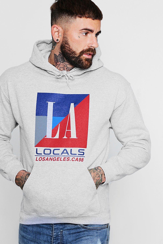 LA Locals Chest Print Hoodie