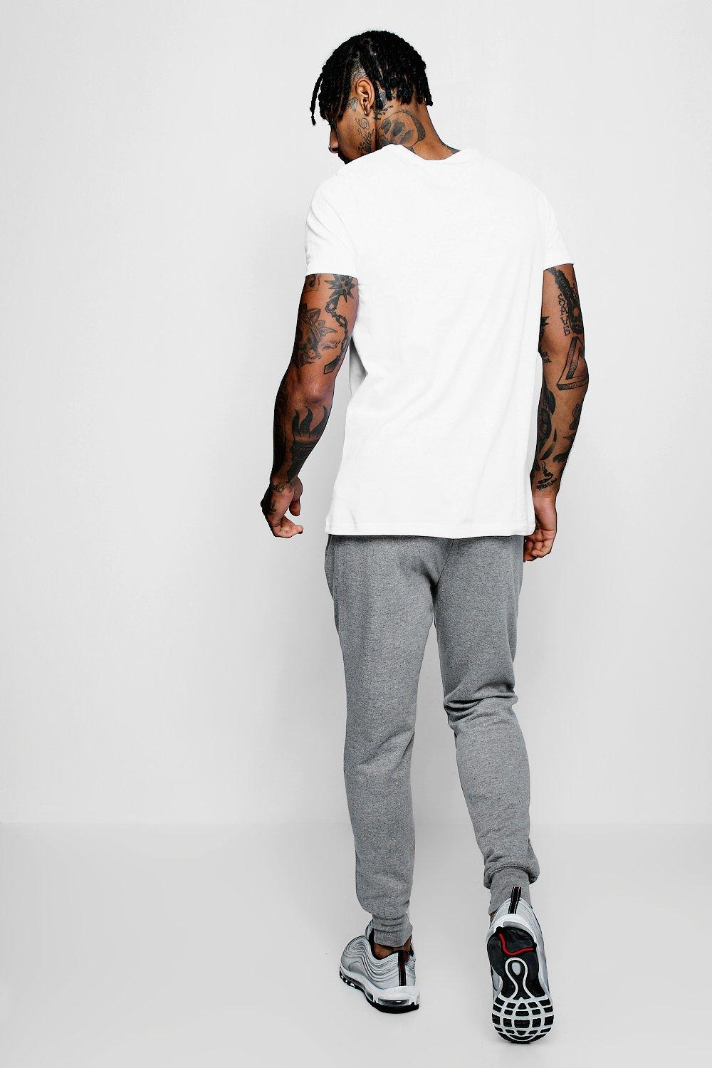 grey Detail Front Panel Jersey Joggers With 8nw60W0XZ