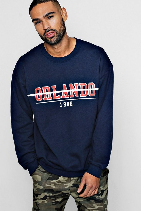 Orlando 1986 Chest Print Sweater