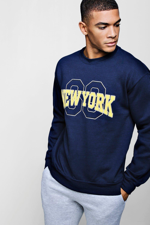 New York State Chest Print Sweatshirt
