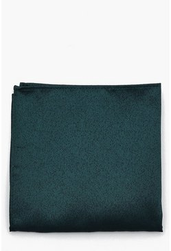 Mens Green Textured Pocket Square