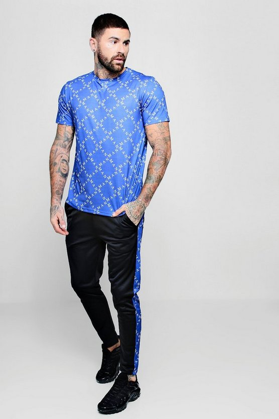MAN Repeat T-Shirt And Jogger Set With Print Panels
