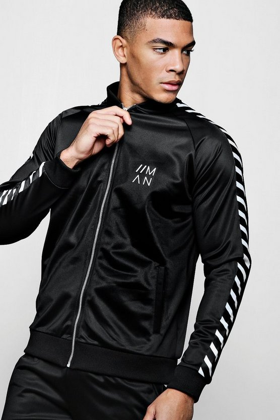 Tricot Tape Bomber With Rubberised MAN Branding