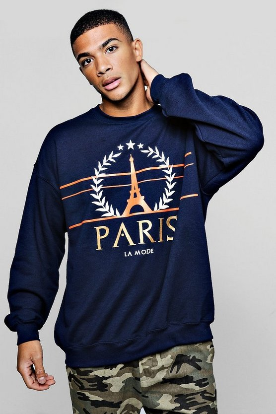 Fashion Paris Slogan Sweater