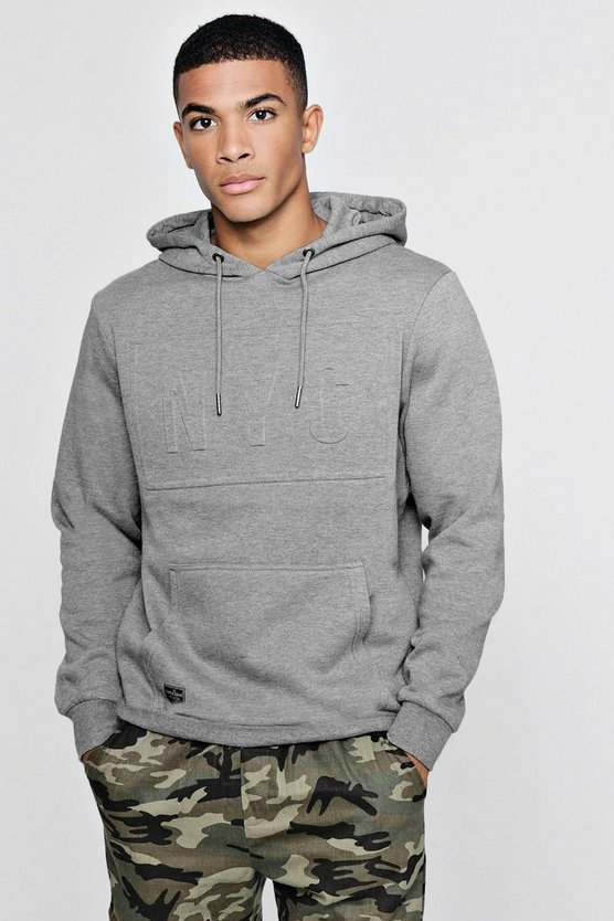 NYC Embossed Fleece Hoodie