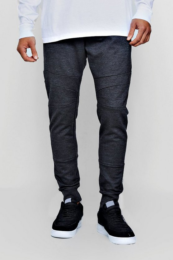 Skinny Fit Panel Jogger with Zip Detail