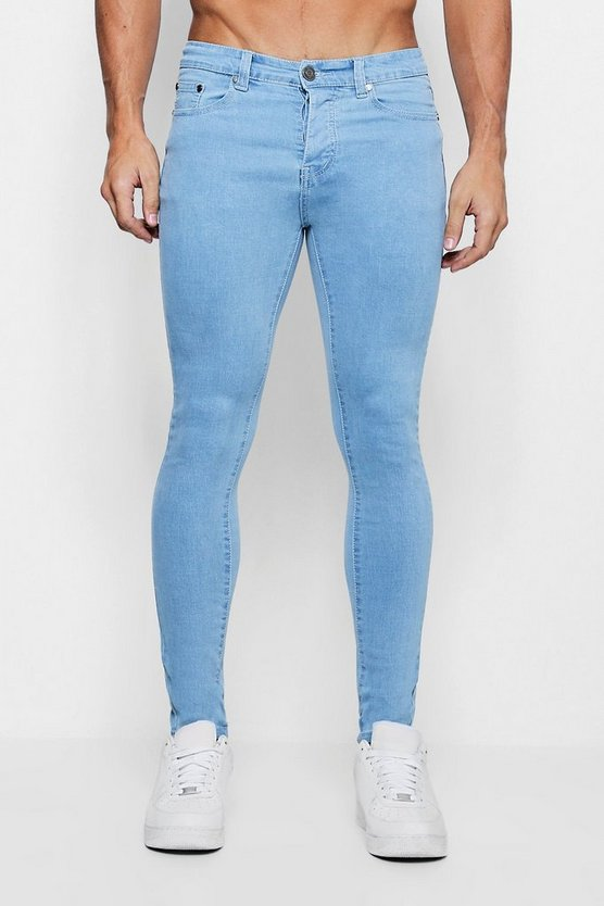 Spray On Skinny Jeans In Vivid Washed Blue