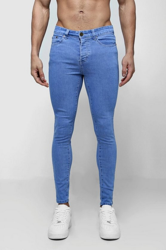 Spray On Skinny Jeans In Vivid Mid Blue