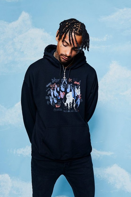 Oversized Disrupt Youth Print Hoodie