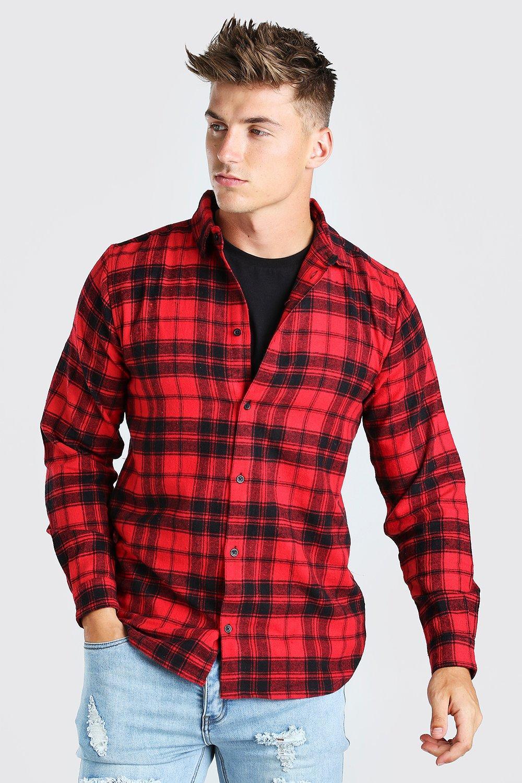 79a9167ce9d2c8d Фланелевая рубашка в клетку с длинными рукавами молнией MAN купить в ...